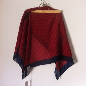 NWT A New Day Large Red & Navy Blue Scarf